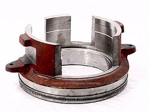 PTO clutch disengaging bearing w/collar