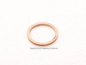 copper ring 26x32mm