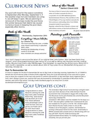 Big Creek Newsletter