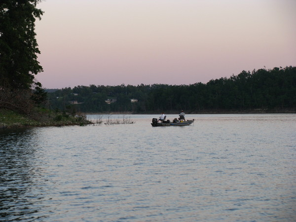 Fishing on Lake Norfork