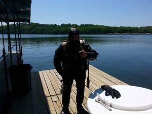 Scuba Diving in Lake Norfork