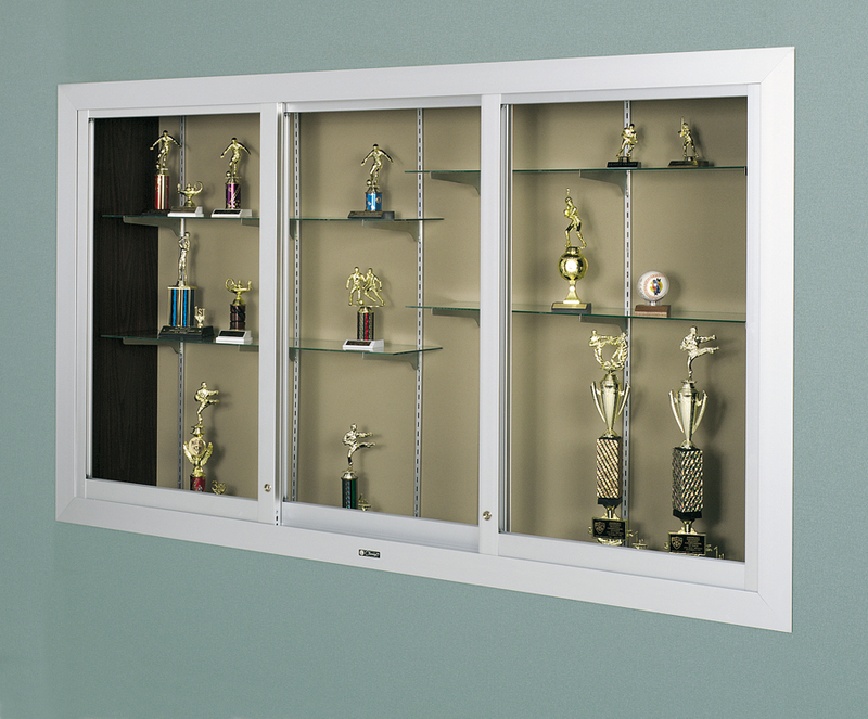 390 SERIES - Large Door Recessed Display Case