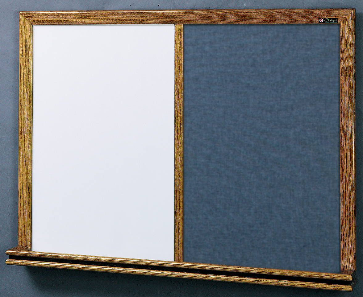 210 SERIES COMBO - Markerboard & Tackboard with 2