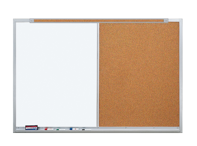 LCS DELUXE COMBO - Markerboard & Tackboard with 5/8