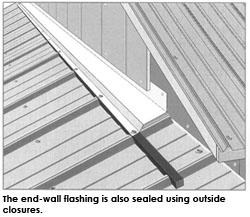 end wall flashing - Roof To Wall Flashing
