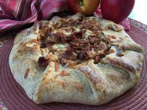 Apple, Bacon And Cheddar Galette