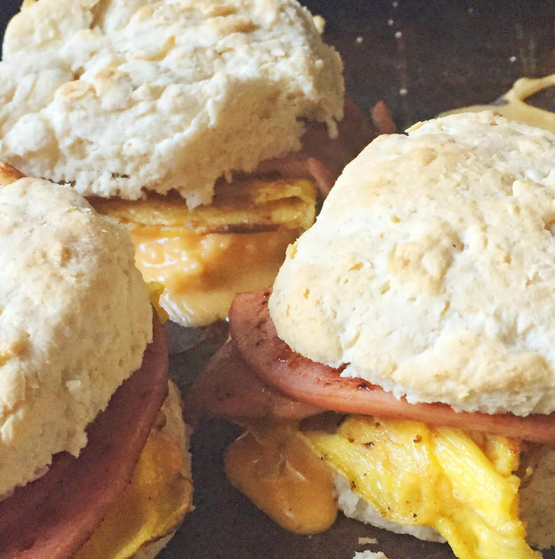 Fried Bologna Biscuits