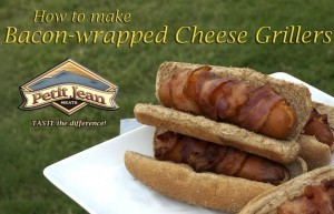 Bacon-wrapped Cheese Grillers