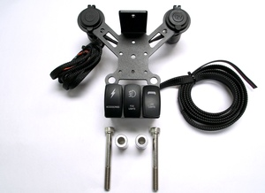 CAN-AM SPYDER 12 VOLT DOCKING STATION SRT-1U12-3S (1-USB, 1-12 Volt 3 Switches)