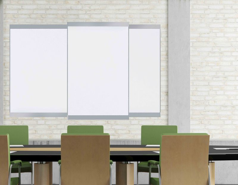 Evolve Sliding System Fixed Wall Mounted Markerboard W