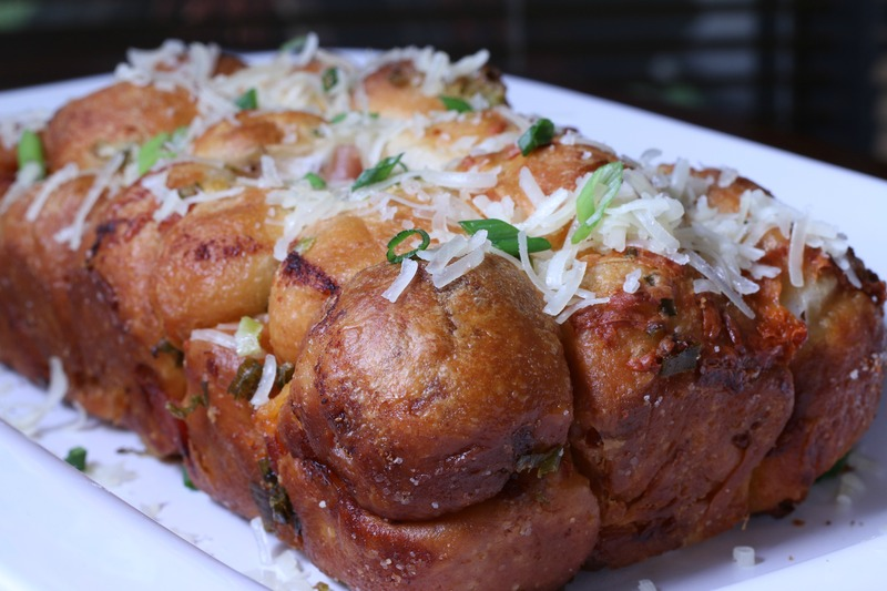 Garlic, Ham And Cheese Monkey Bread