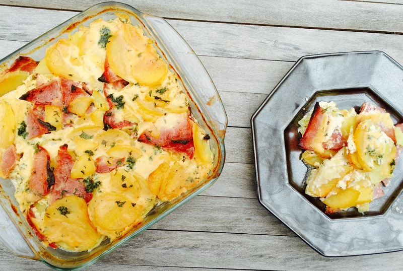 Scalloped Potatoes With Petit Jean Ham