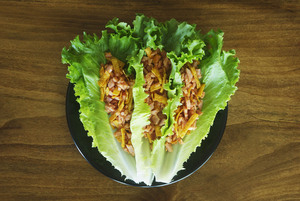 Blazing Buffalo Lettuce Wraps