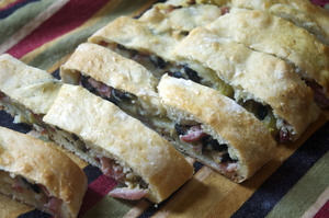 Ham And Cheese Pizza Bread
