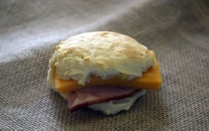 Southern Ham And Cheese Biscuits