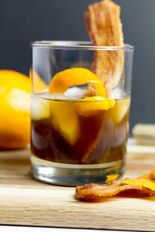 Bacon-infused Old Fashioned