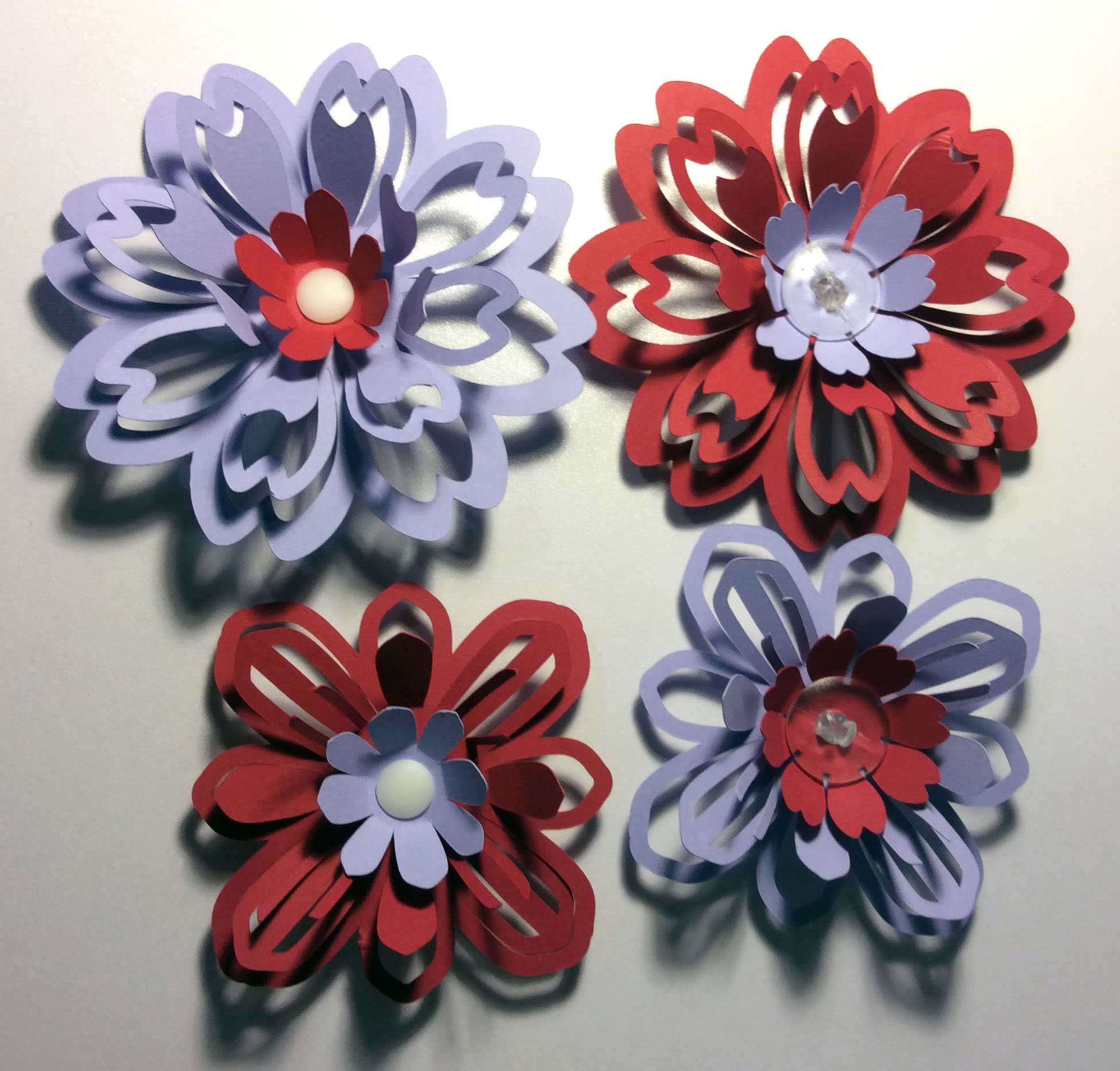 Flowers made with Ratchet Rivets