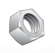 Metric Hex Nuts with Locking Threads