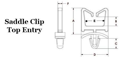 Saddle Clip - Top Entry