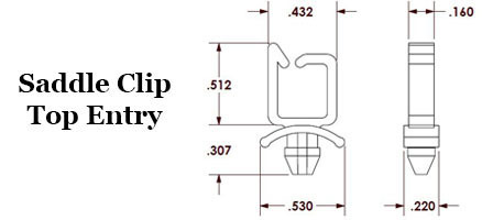 Saddle Clip - Top Entry