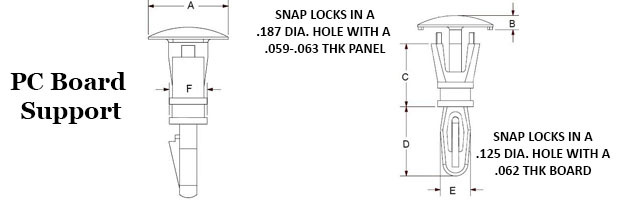 Locking Reverse Circuit Board Supports