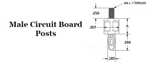 Male Circuit Board Posts