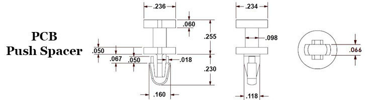 PCB Push Spacer