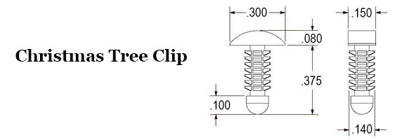Christmas Tree Clip