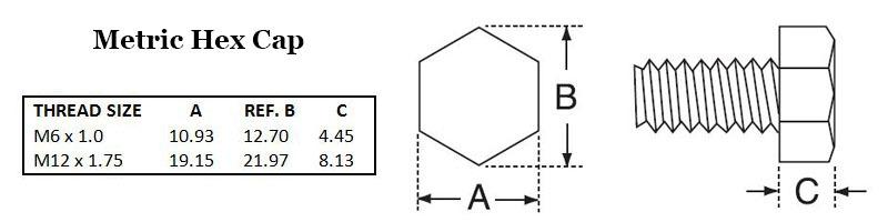 Metric Hex Cap