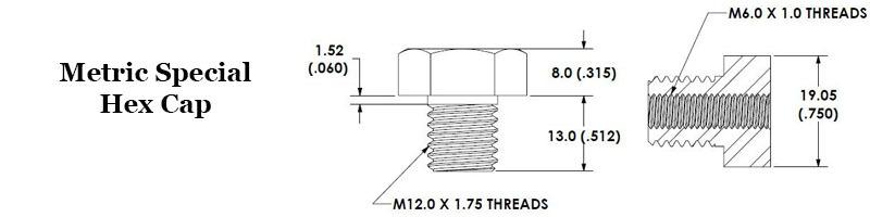 Metric Special Hex Cap