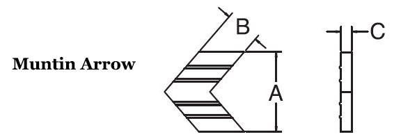 Muntin Arrow
