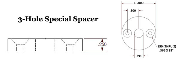 3-Hole Special Spacer