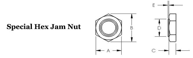 Special Hex Jam Nut