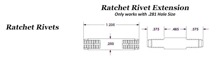 Ratchet Rivets