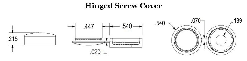 Hinged Screw Cover