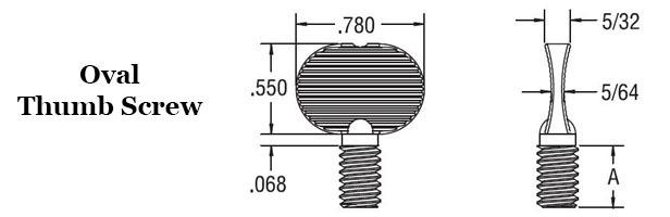 Oval Thumb Screw