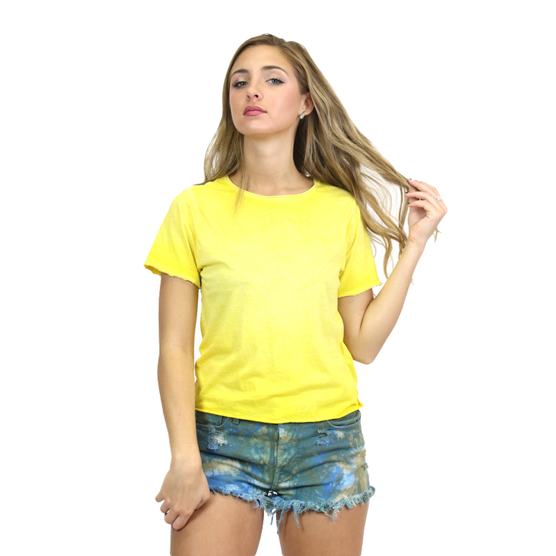 Raw Edge Crop Tee For Her