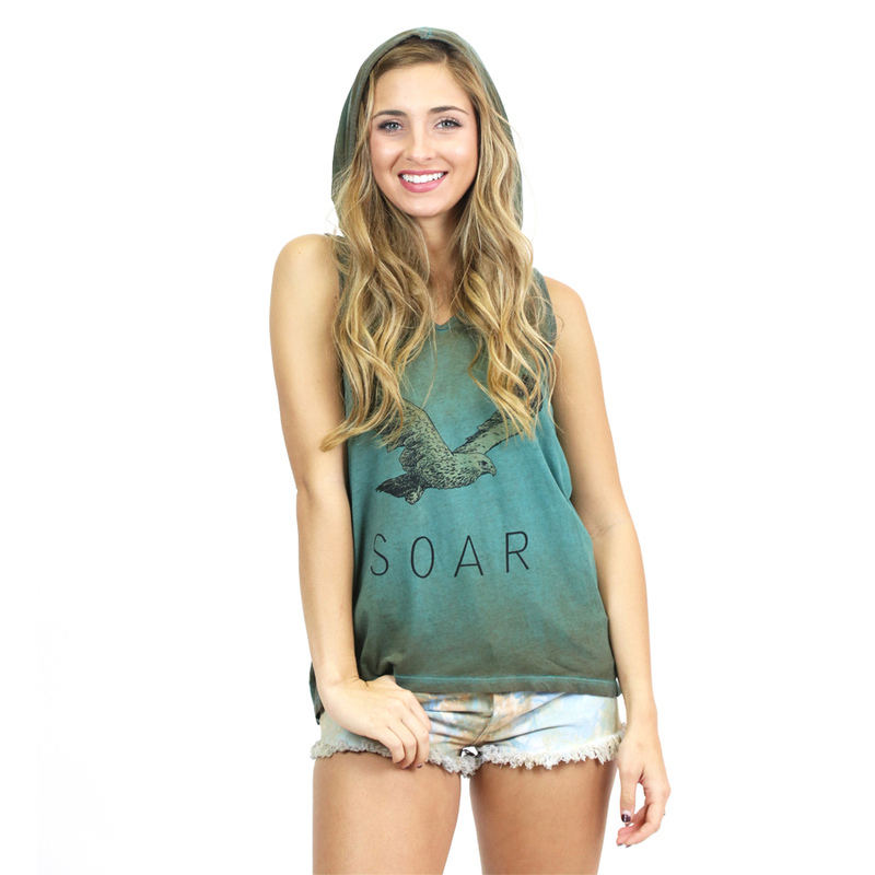 Hooded Graphic Tank For Her