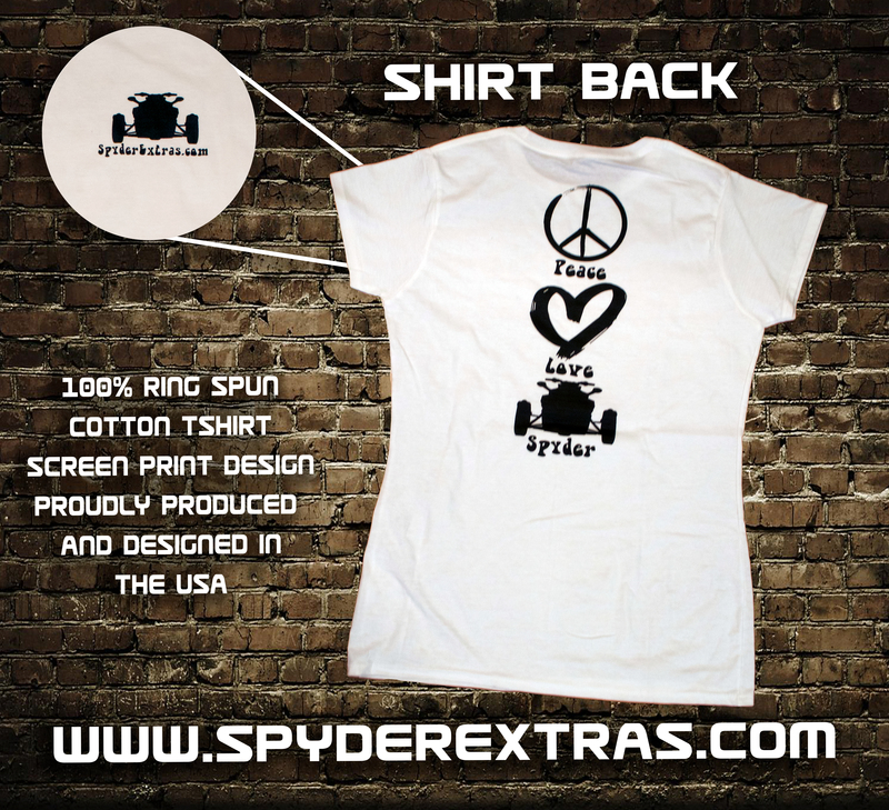 Peace Love Spyder Ladies Shirt