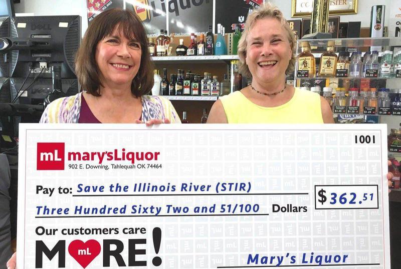 Mary's Liquor in Tahlequah Donates to STIR