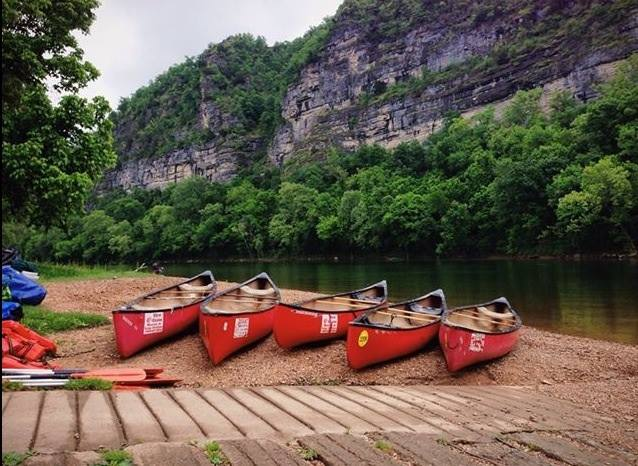 Go on a day float with Dirst Canoe on the Buffalo River.