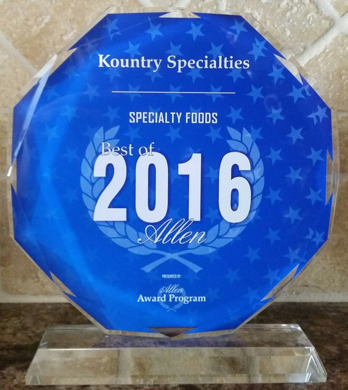 Kountry Specialties - Award Recognition