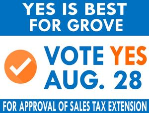 Grove Chamber Urges Voters to Extend 0.4% Sales Tax