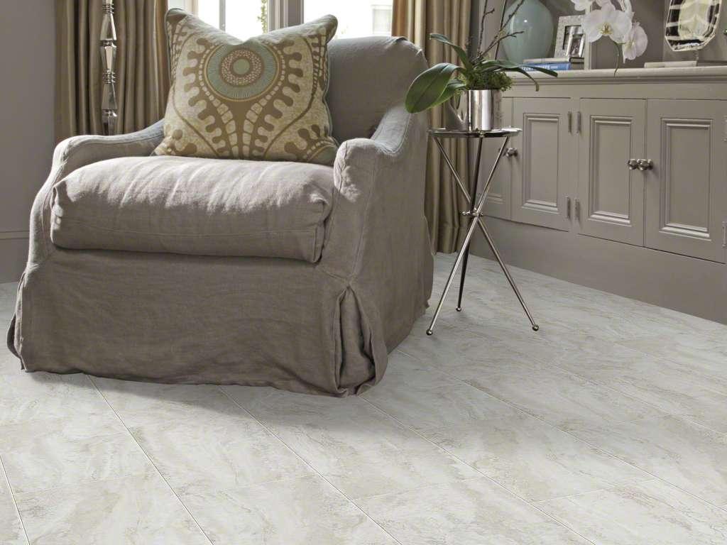 Light colored laminate or vinyl tile