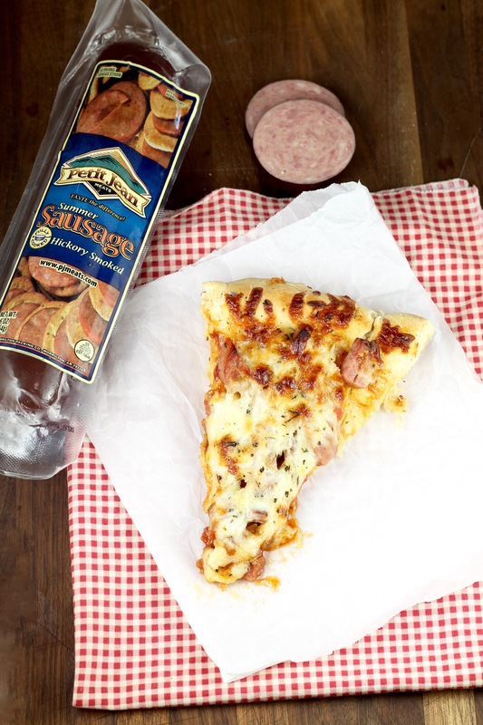 Smoked Summer Sausage Pizza