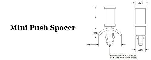 Mini Push Spacers