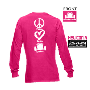 LONG SLEEVE SPYDER EXTRAS Peace Love Spyder Ladies APPAREL