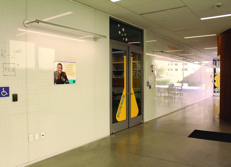 Claridge Glass Walls w/ Custom Graphics -- and they Slide, Too!