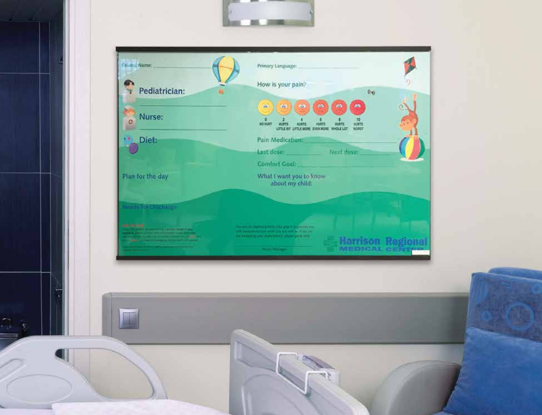XCHANGE Patient Boards - Interchangeable Graphic Markerboard