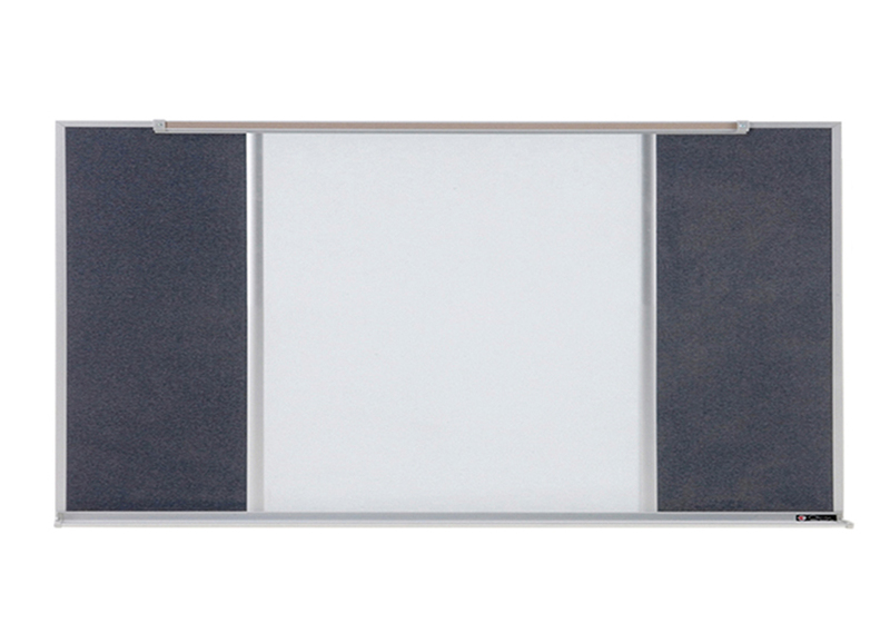 800 SERIES TYPE C COMBO - Markerboard & Tackboard with 5/8